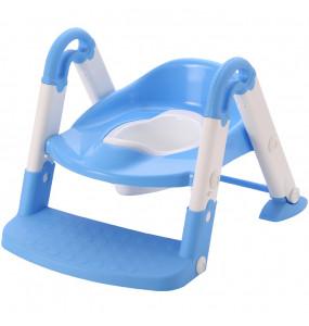 Aziamor Baby step 3 in 1  Vasino Sedile con scaletta colore Azzurro