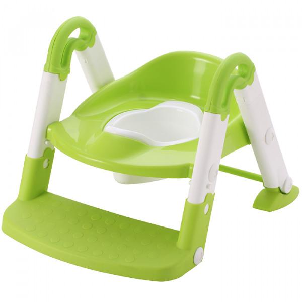 Aziamor Baby step 3 in 1  Vasino Sedile con scaletta colore Verde