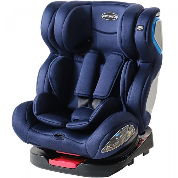 Aziamor Seggiolino Auto Clark Gruppo 0+/1/2/3 36 Kg Isofix colore Blu Navy